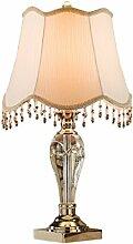 SKC LIGHTING European Creative Fashion Modern Minimalist Tischlampe Kristall-Lampen-Schlafzimmer-Lampe Nachttischlampe amerikanischen Luxus-Dekoration
