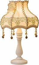 SKC LIGHTING Garten Tischlampe Schlafzimmer Nachttischlampe Europäische amerikanische Art Retro Dekoration ( Farbe : Gold )