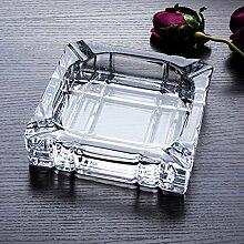 SKC LIGHTING Große transparente Glas-Aschenbecher europäischen Wohnaccessoires, Dekoration, kreative Persönlichkeit Aschenbecher