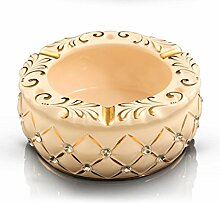 SKC LIGHTING Keramik Aschenbecher Luxus europäischen Mode Persönlichkeit Home Furnishing Große Wohnzimmer Tisch Büro Dekoration