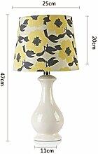 SKC LIGHTING Keramische Tabellen-Lampen-Schlafzimmer-Nachttischlampe Kreative moderne einfache Wohnzimmer-Dekoration-Hochzeits-Tabellen-Lampe ( Farbe : #4 )