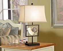 SKC LIGHTING Mittelmeer Amerikanischen Bett Lampe Schlafzimmer Nachttisch Lampe Modern Minimalist Moderne europäischen Stil Wohnzimmer dekoriert Soft Dekoration