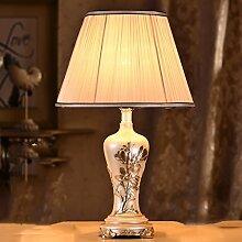 SKC LIGHTING Moderne chinesische Tischlampe Moderne kreative Pastoral Beleuchtung Schlafzimmer Bedside Dekoration Schlafzimmer Lampe ( Farbe : #1 )
