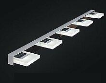 SKC LIGHTING Moderne einfache Bad Schlafzimmer Badezimmer wasserdichte LED Spiegel Front Lampe Wand Lampe ( Farbe : Warmweiß-97*10*4.5cm (15w) )
