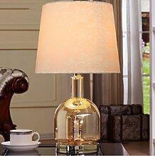 SKC LIGHTING Nordic American Glas Tischlampe Nachttischlampe Jane European - Stil Luxus Modern Minimalistische Kreative Wohnzimmer Dekoration