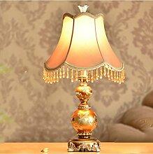 SKC LIGHTING Retro- europäische Art-Lampen-kreative Schlafzimmer-Buch-Nachttisch-Dekoration-Tabellen-Lampen