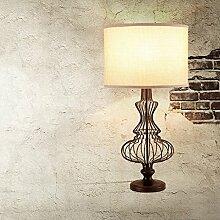 SKC LIGHTING Retro- kreative Bedside-Lampen-Wohnzimmer-Tabellen-Lampen-Büro-Dekoration -E27 * 1 40W ( Farbe : Braun )