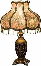 SKC LIGHTING Schlafzimmer Nachttischlampe Europäische Stil Retro kreative amerikanische Dekoration Studie Zimmer Wohnzimmer Schlafzimmer Lampe ( Farbe : A )