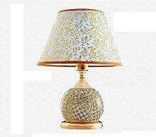 SKC LIGHTING Tischlampe Schlafzimmer Nachttischlampe Keramiklampe Schlafzimmer Dekoration Hochzeit Tischlampe Innovative moderne minimalistische Lampe ( größe : S )