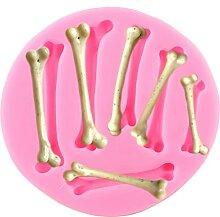 Skeleton Bones Silikonform Halloween Cupcake