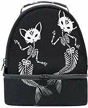 Skeletons Katzen-Meerjungfrauen-Lunchbox-Tasche,