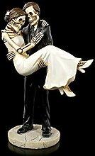 Skelett Gothic-Brautpaar Figur - Braut trägt