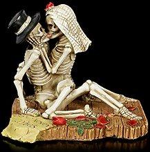 Skelett Gothic-Brautpaar Figur - Love Never Dies  