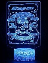 Skelett-Lampe, 3D-Nachtlicht, 16 Farben, dimmbar,