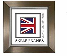 Skelf Frames Bilderrahmen aus Zinn, quadratisch,