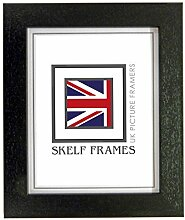 Skelf Frames Bilderrahmen, Holz, A1, Schwarz,