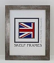 Skelf Frames flach Antik Silber Holz Bild/Foto