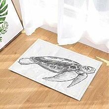 Sketch Bath Rugs by BuEnn Handgemalte