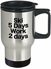 Ski-Becher Reise Kaffeetasse lustiges Geschenk
