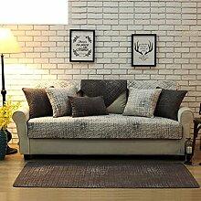 Skid Baumwolle gepolstert Sofakissen/ moderne minimalistische Sofa Handtuch-A 70x180cm(28x71inch)