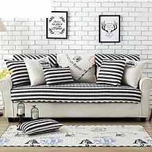 Skid Baumwolle gepolstert Sofakissen/ moderne minimalistische Sofa Handtuch-D 110x210cm(43x83inch)