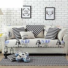 Skid Baumwolle gepolstert Sofakissen/ moderne minimalistische Sofa Handtuch-C 70x150cm(28x59inch)