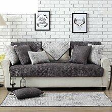 Skid Baumwolle gepolstert Sofakissen/ moderne minimalistische Sofa Handtuch-B 110x110cm(43x43inch)