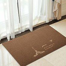 Skid Körnung Spachtel Kunststoff-Matte/Küche Schlafzimmer Badezimmer Tür Badematte an der Tür/Fußmatte/Osmanen-D 50x100cm(20x39inch)