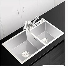 SKINSKINSKIN Doppel Schüssel Küchenspüle 304