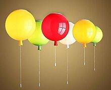 SKIOM LOFT Die Nordic Im Modernen Retro Farbe Glas Ballon Kronleuchter Pendelleuchte Lounge Restaurant Schlafzimmer Küche Kinder Wohnzimmer, 30 Cm, Grün
