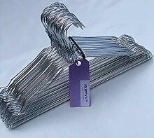 Skippys 100 Drahtbügel Silber Draht-Kleiderbügel