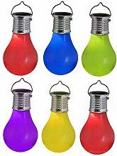 Skippys Solar Glühbirne zum Hängen 6 Stück
