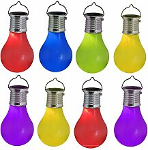 Skippys Solar Glühbirne zum Hängen 8 Stück