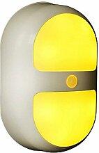 Skitic Batteriebetriebenes LED Nachtlichter mit 10 LEDs und Bewegungsmelder, LED-Nachtlicht Sensor Innenleuchte, Nachtlampe für Schrank, Treppen, Schlafzimmer, Küche, Kinderzimmer, Flure, Keller usw ( Warmweiß )