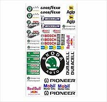 Skoda Logo Autoaufkleber Sponsoren Marken