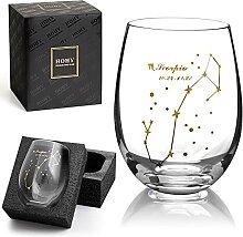 Skorpion Weinglas ohne Stiel, Sternbild Glas
