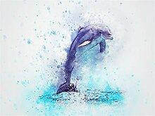 SKSK Tier Delphin Diamant Malerei voller Diamanten
