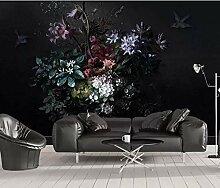 SKTYEE Nordische moderne Blumen-Foto-Tapete für
