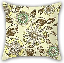 SkuGo Flower Cushion Cases ,best For Couples,couch,birthday,father,dining Room,bar 20 X 20 Inches / 50 By 50 Cm(two Sides)