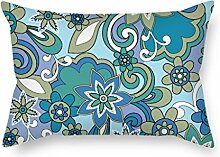 SkuGo Flower Pillowcase ,best For Chair,teens Boys,boys,club,outdoor,teens Boys 20 X 26 Inches / 50 By 65 Cm(double Sides)