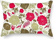 SkuGo Flower Pillowcover ,best For Husband,coffee House,drawing Room,gf,girls,sofa 16 X 24 Inches / 40 By 60 Cm(twin Sides)