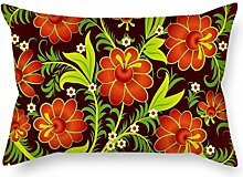SkuGo Pillowcase Of Flower,for Son,chair,home Office,home Theater,club,divan 18 X 26 Inches / 45 By 65 Cm(twin Sides)