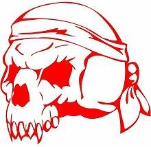 Skull Aufkleber 001, 50 cm, ro