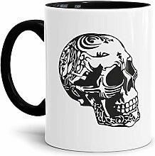 Skull-head Becher/Totenkopf-Tasse Innen & Henkel