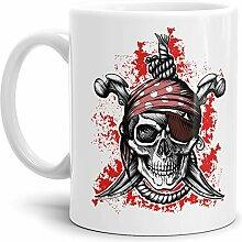 Skull-head Becher/Totenkopf-Tasse Weiss mit