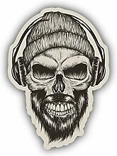 Skull Hipster DJ - Self-Adhesive Sticker Car