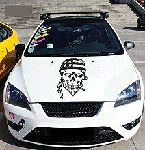 Skull In kierchef Auto-Motorhaube Aufkleber Skull Aufkleber auf der Kapuze der Auto, Skull Aufkleber auf Kapuze der Auto. ro