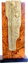 Skulptur aus Bronze & Wurzelholz von Christian