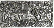 Skulptur aus Messing mit Flachrelief von Luigi