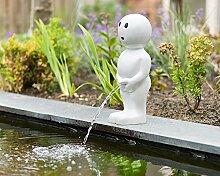 Skulptur Boy weiß H47, Dekoration für Teich oder Terrasse